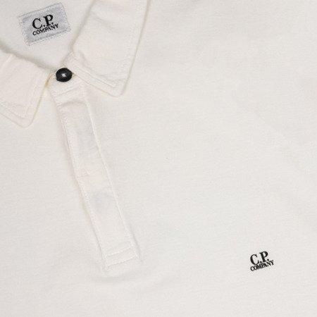CP COMPANY LONGSLEEVE POLO SHIRT WHITE