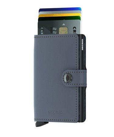 SECRID miniwallet matte grey -black