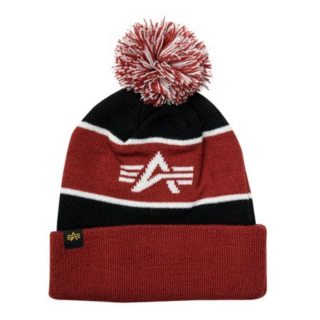 Alpha Industries Block Bobble Beanie