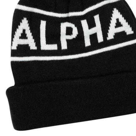 Alpha Industries Block Bobble Beanie Black