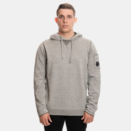 BLUZA CP COMPANY HOODED DOUBLE FACE VANISE GREY