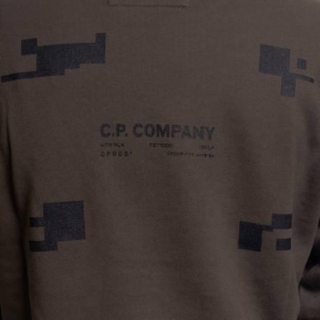 CP COMPANY CREWNECK COTTON FLEECE DARK GREEN