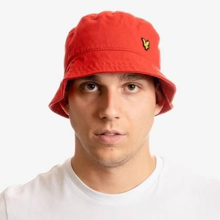 KAPELUSZ LYLE&SCOTT TWILL BUCKET HAT RED