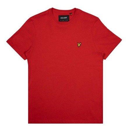 LYLE&SCOTT CREWNECK T-SHIRT GRENADINE RED
