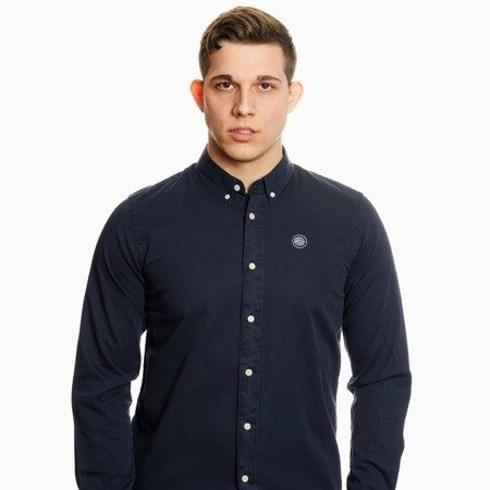 Pretty Green Mens Classic Fit Garment Dye Shirt