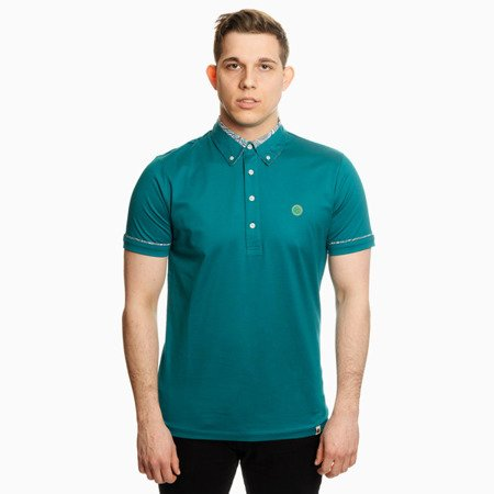 Pretty Green Mens Paisley Print Collar Polo