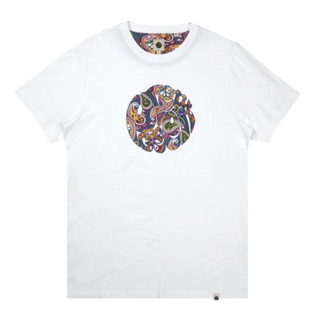 Pretty Green Mens Paisley Print Logo T-Shirt