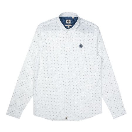 Pretty Green Mens Slim Fit Polka Dot Shirt